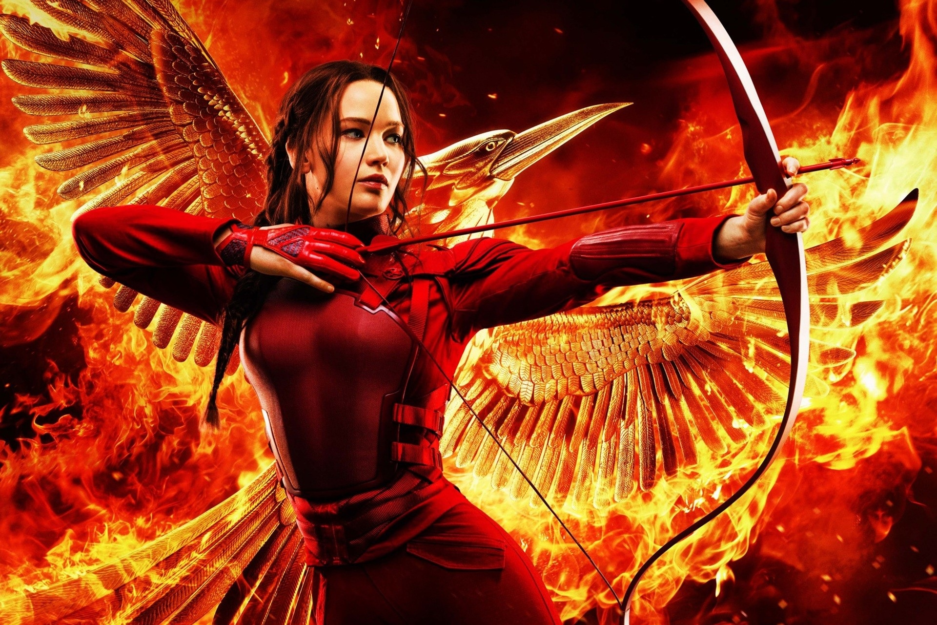 katniss everdeen the hunger games red outfit