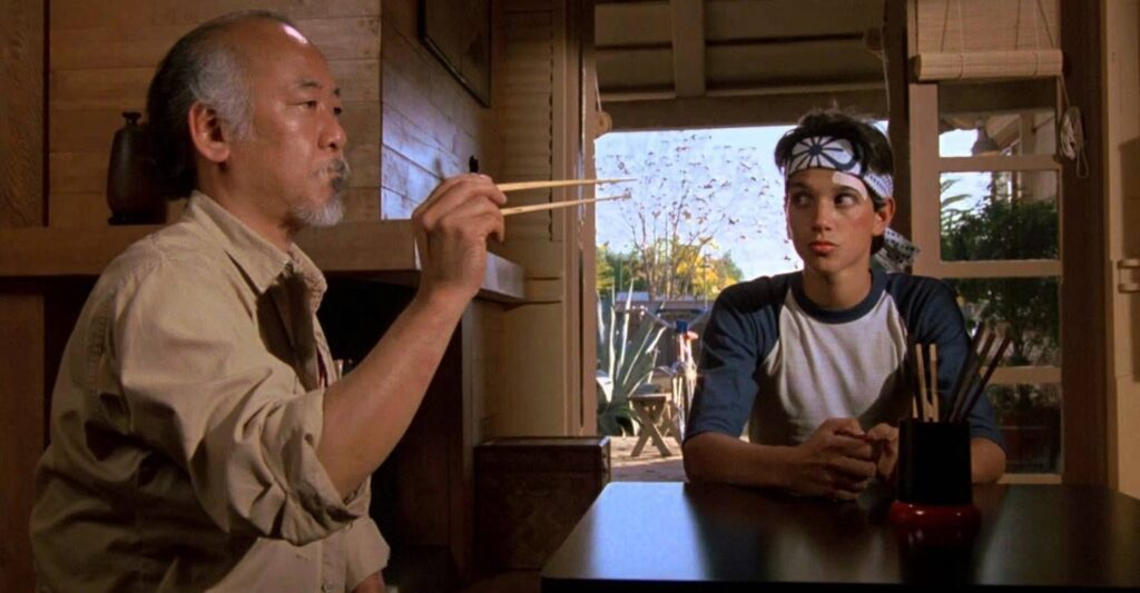 the karate kid 1984 catch fly