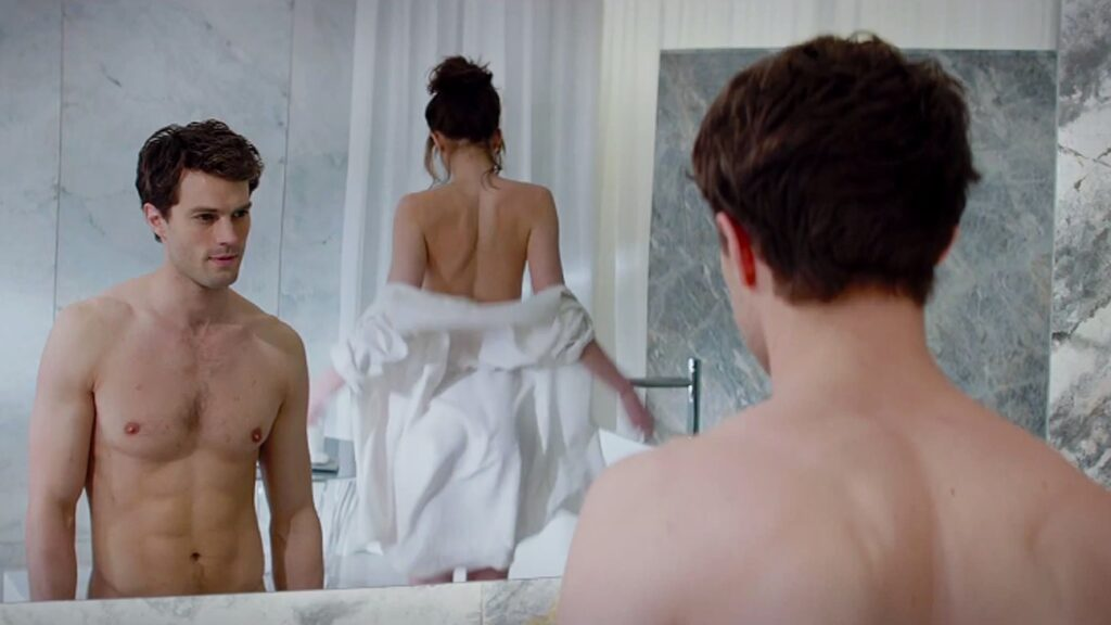 fifty shades of grey bathroom scene