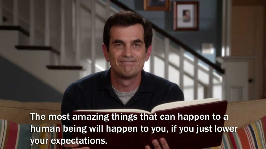 phil dunphy low expectations