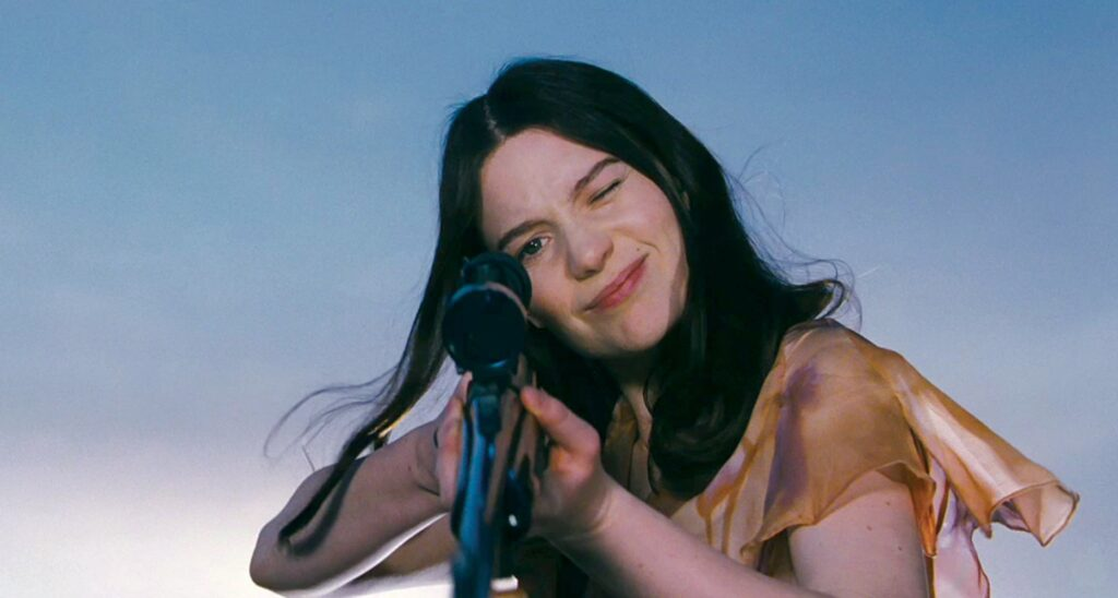 stoker (2013) india and her rifle gun