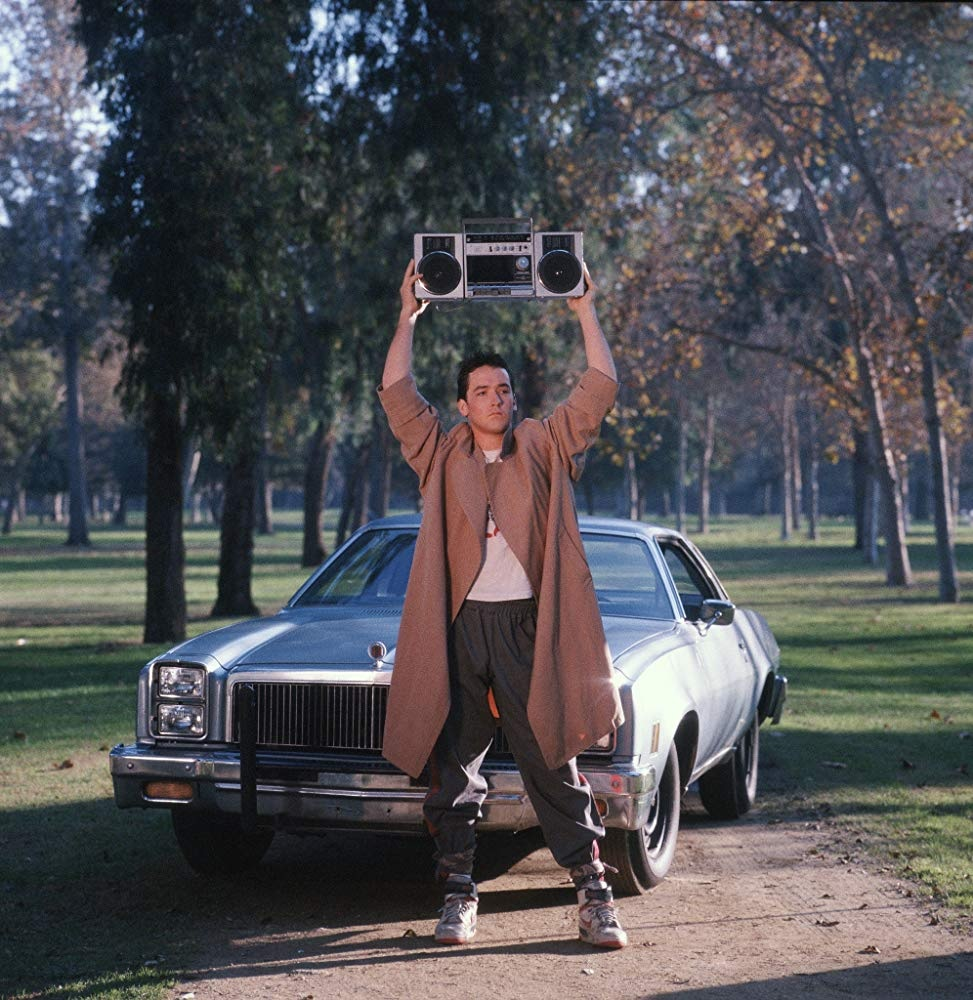 say anything 1989 holding boombox romantic comedies